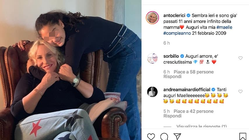 Post di Antonella Clerici su Instagram