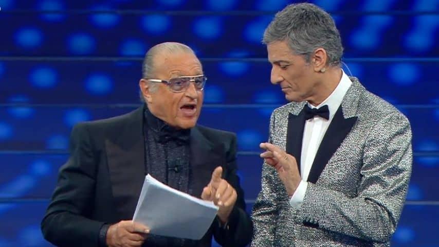 Tony Renis e Fiorello all'Ariston