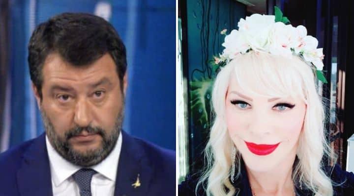 Matteo Salvini e Ilona Staller