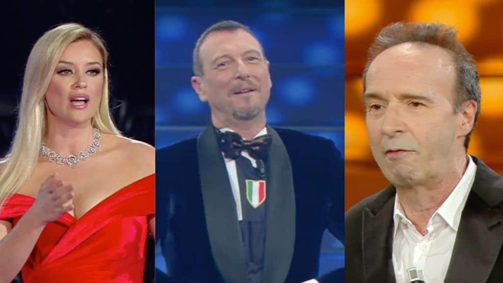 alketa vsjsu amadeus e roberto benigni a Sanremo