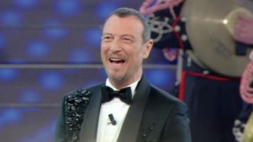 Amadeus alla finale di Sanremo 2020