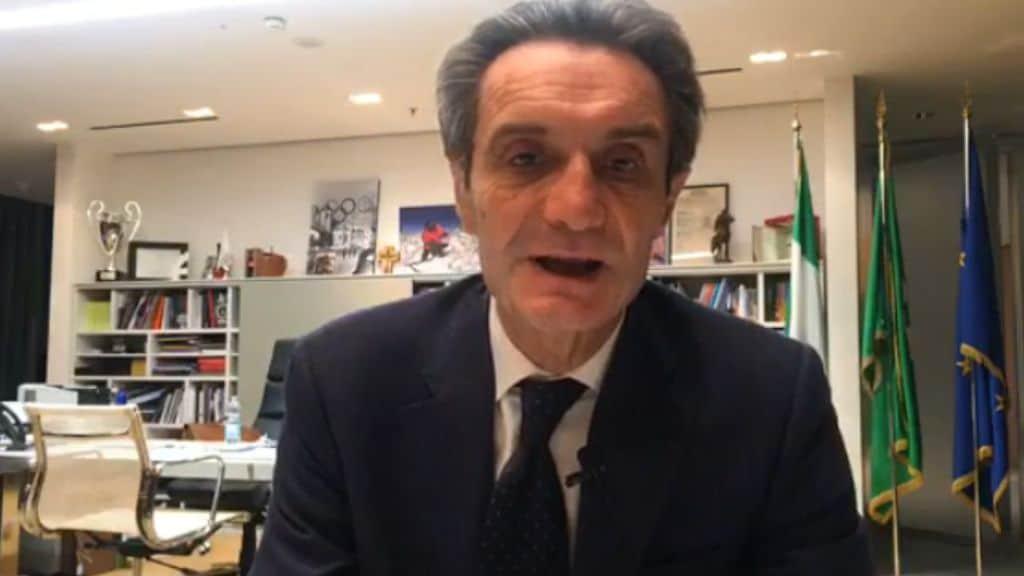Attilio Fontana in diretta Facebook