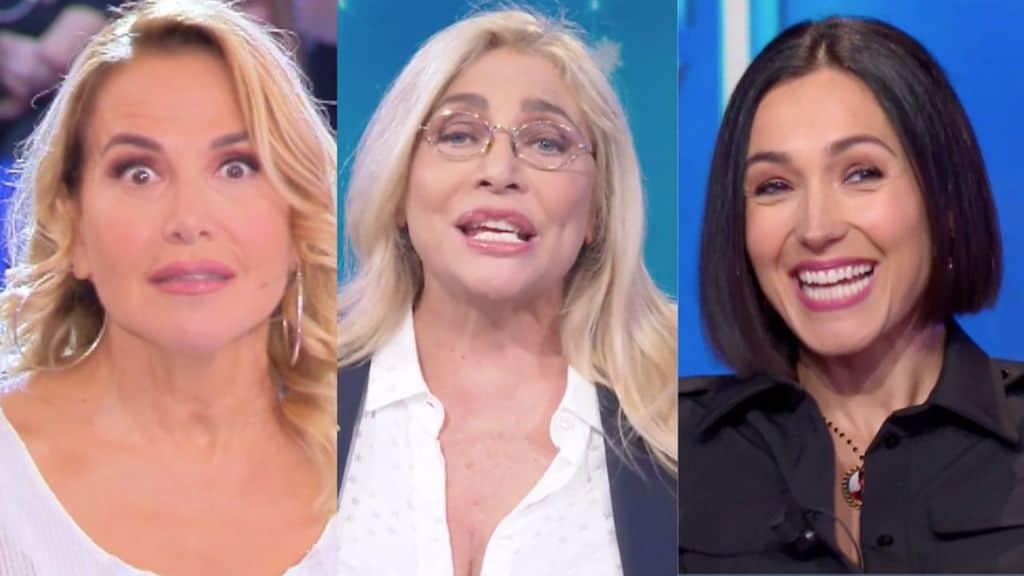 Barbara d'Urso, Mara Venier e Caterina Balivo in primo piano