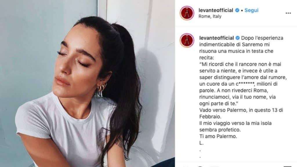 post di Levante su Instagram