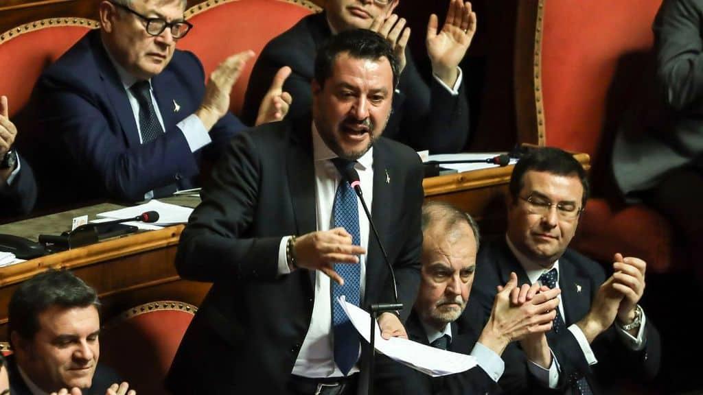 Matteo Salvini in aula