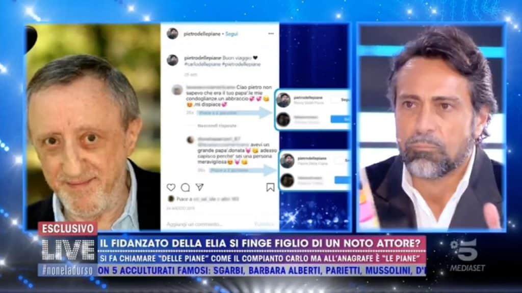 """Pietro Delle Piane chiarisce da Barbara D'Urso: """"Nessuna par"""