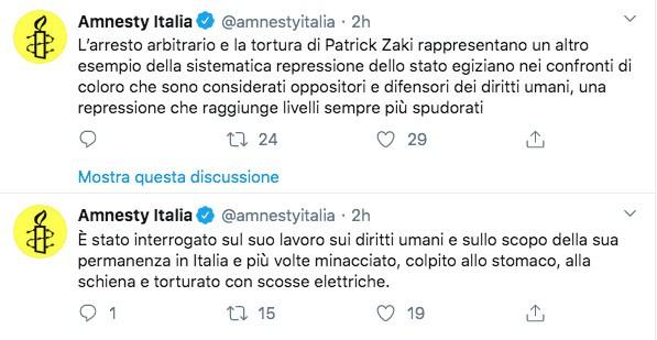 Post di Amnesty Italia