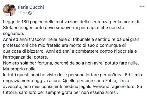 Post di Ilaria Cucchi