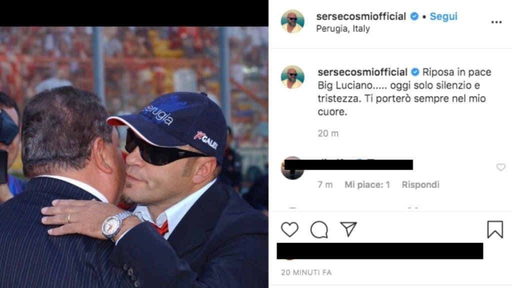 il post scritto su Instagram da Serse Cosmi