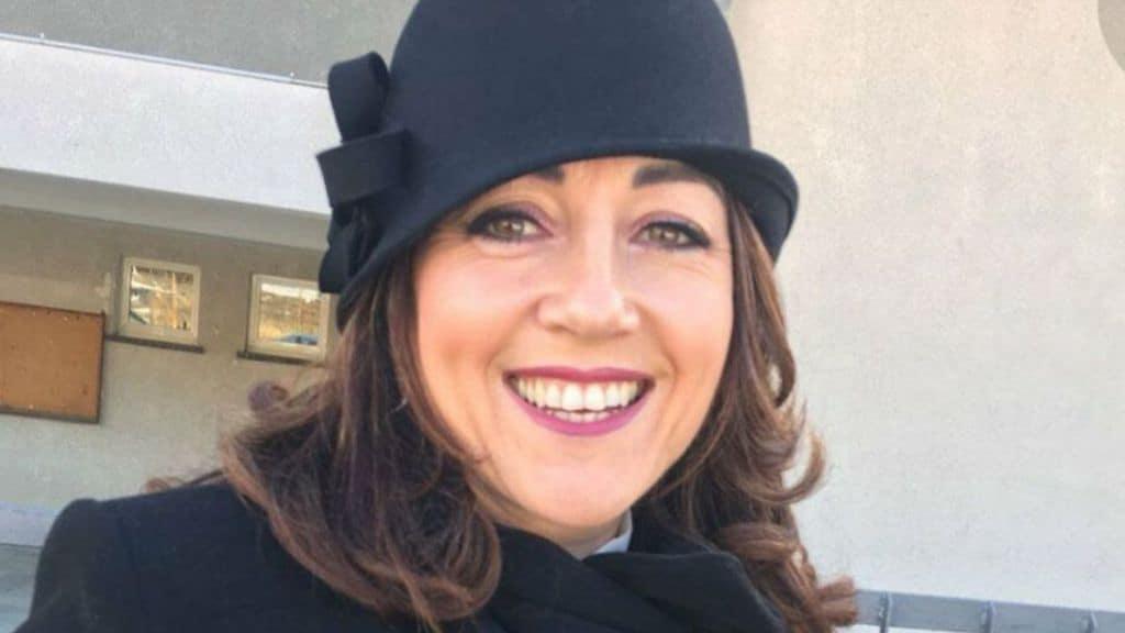 Primo piano di Simona Viceconte, sorella della campionessa, anche lei morta suicida