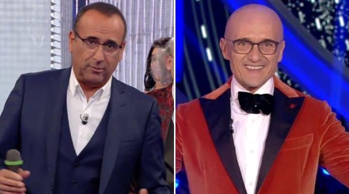 Carlo Conti e Alfonso Signorini