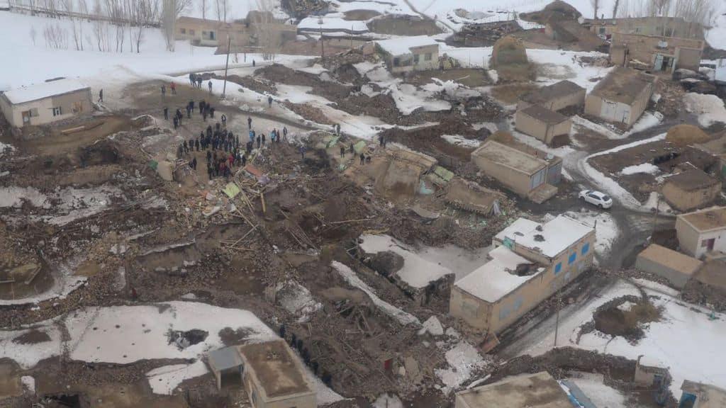 vista aerea del terremoto in turchia
