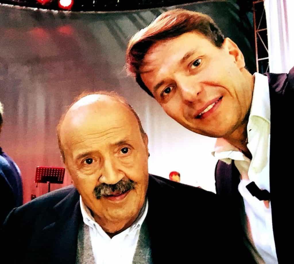 Maurizio Costanzo insieme a Walter Rolfo