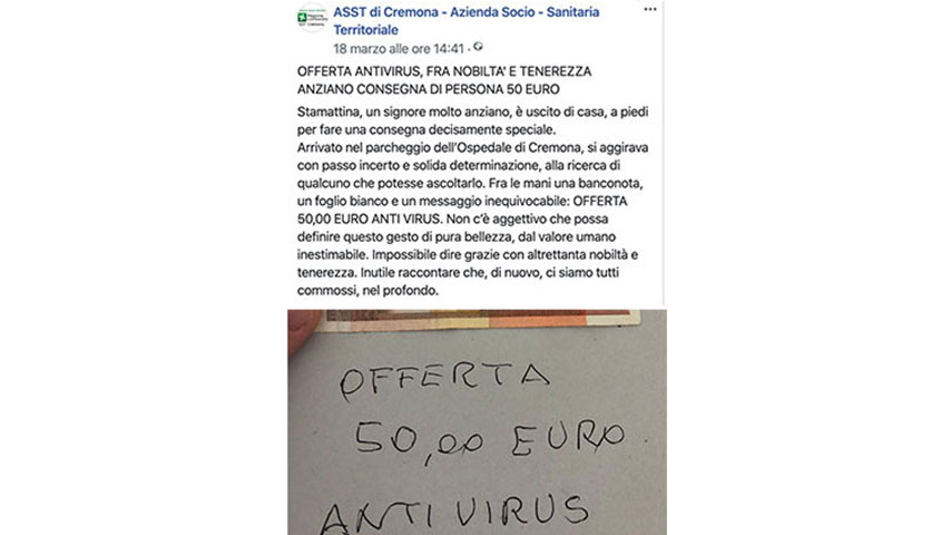 Post di Asst Cremona su Facebook