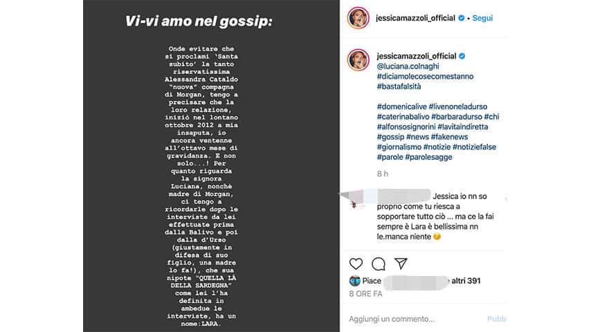 Post di Jessica Mazzoli su Instagram