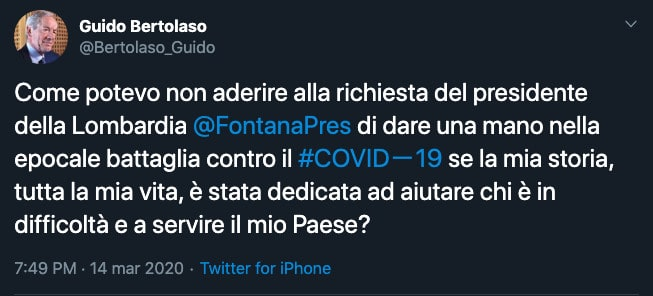 Tweet di Guido Bertolaso