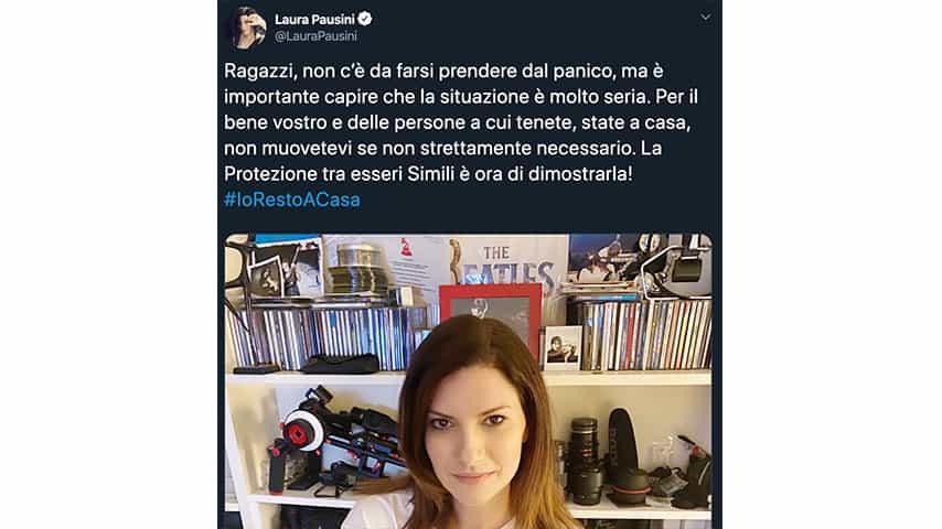 Tweet di Laura Pausini