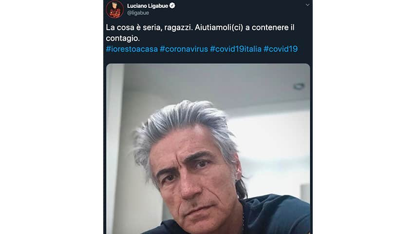 Tweet di Ligabue
