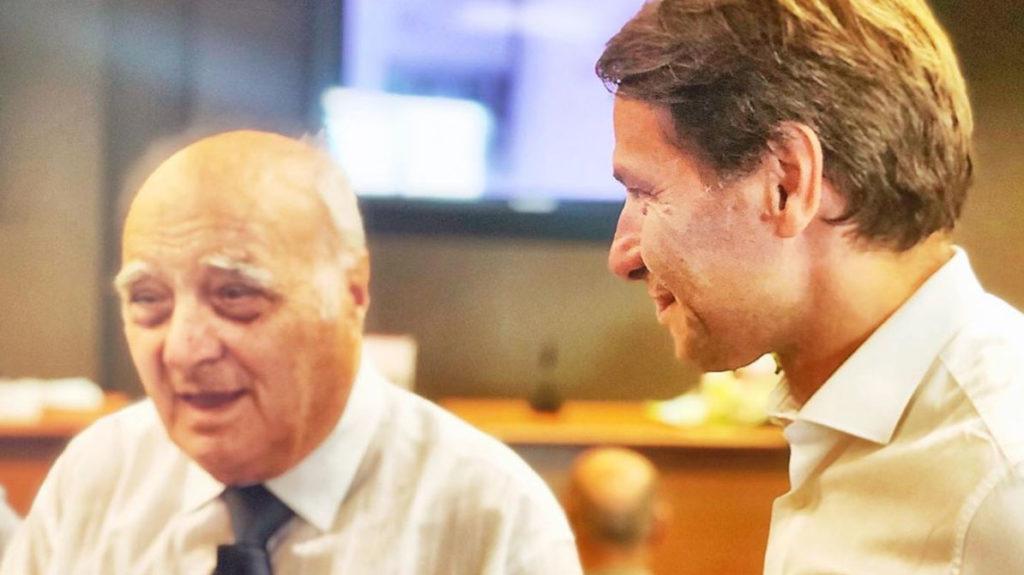 Walter Rolfo con suo papà