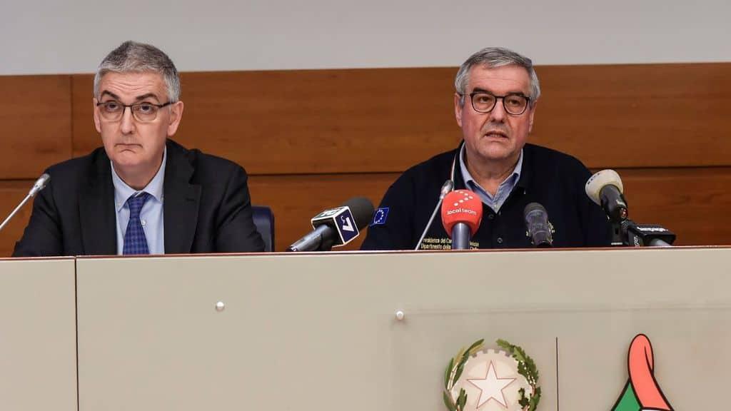 Angelo Borrelli durante la confernza stampa