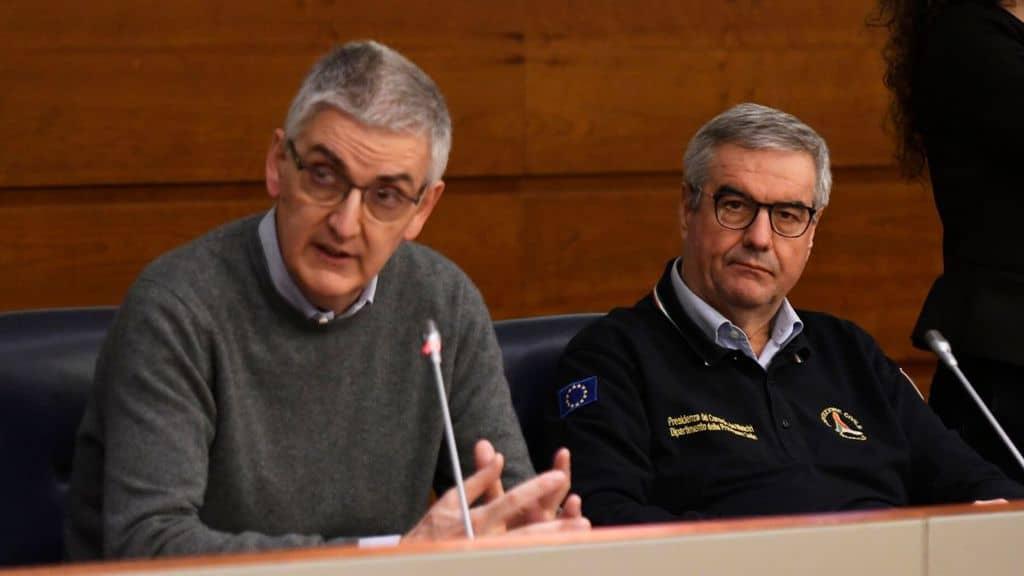 Borrelli e Brusaferro durante la conferenza stampa