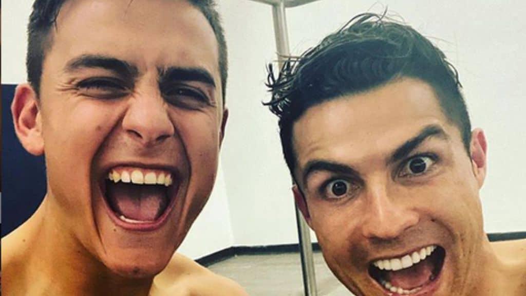 Dybala e Ronaldo esultano insieme