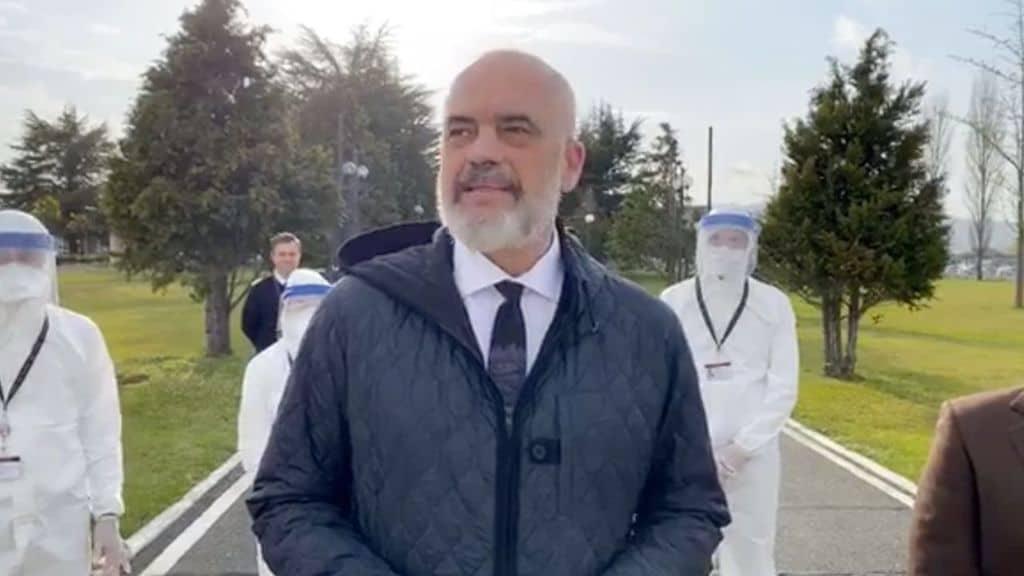 il primo ministro dell'Albania Edi Rama