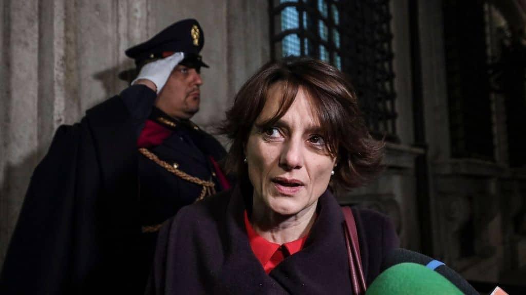 Il ministro delle pari opportunità e della famiglia Elena Bonetti