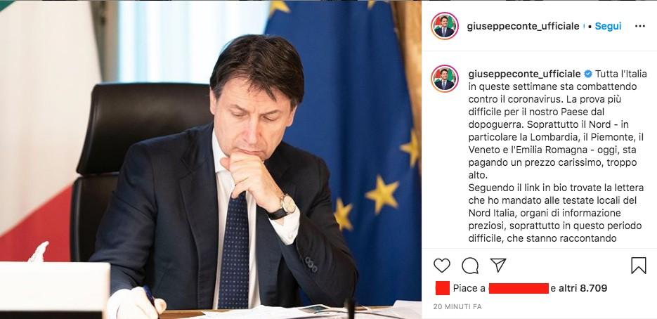Post di Giuseppe Conte su Instagram