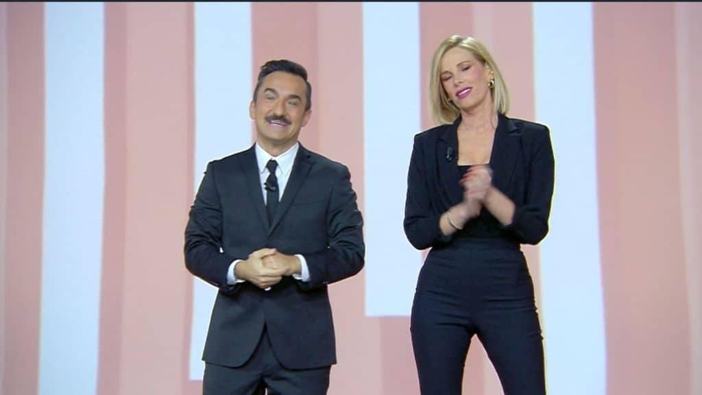 Nicola Savino e Alessia Marcuzzi a Le Iene