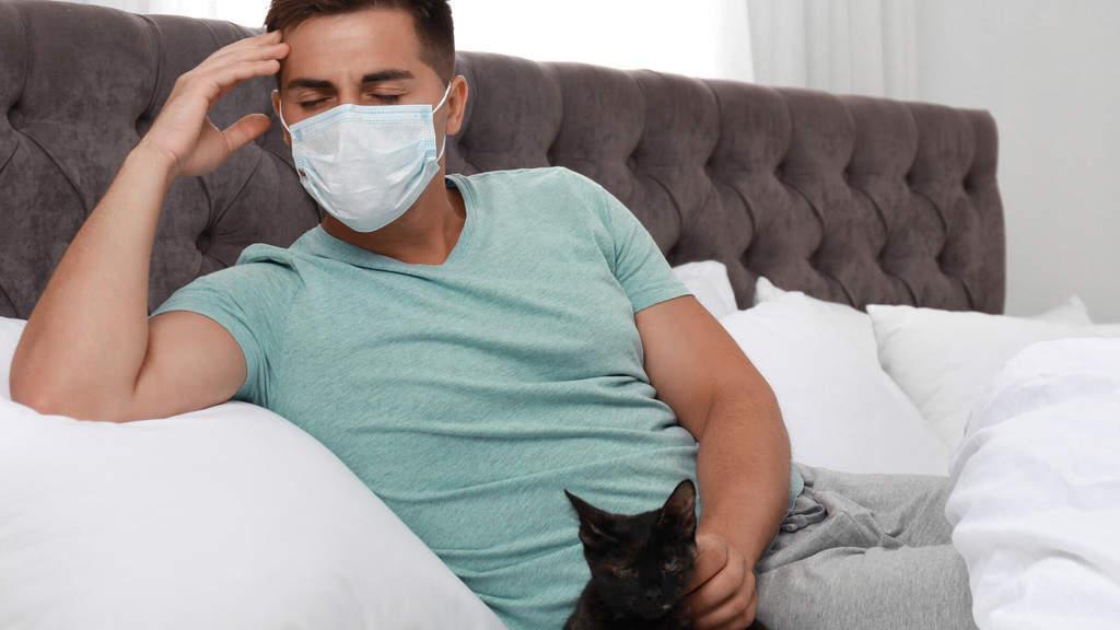 malato casa mascherina