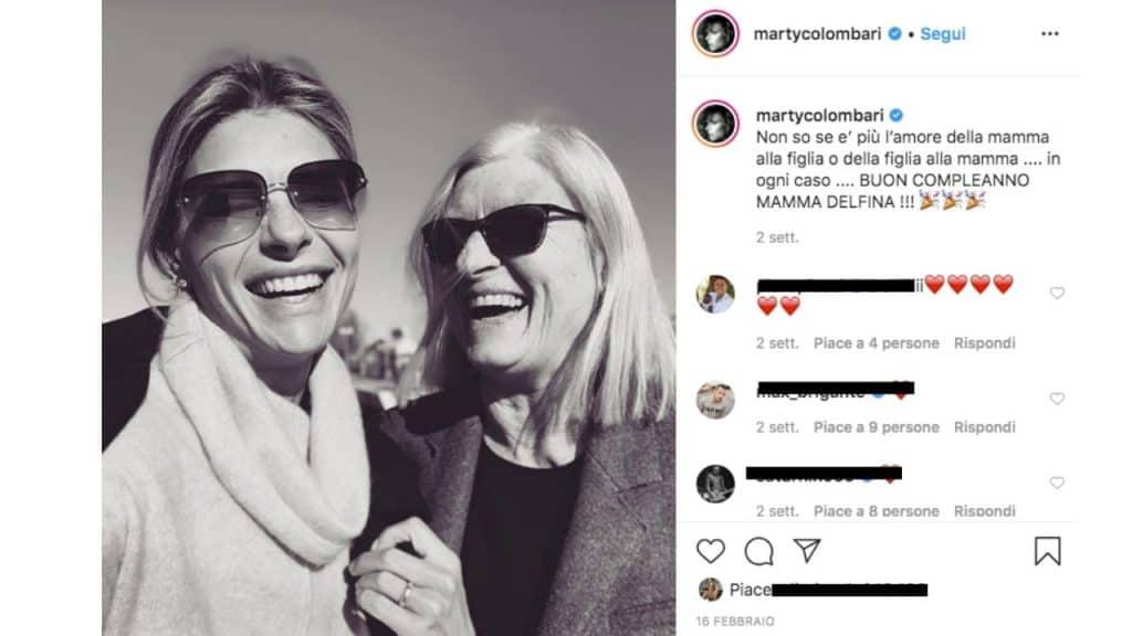 post instagram di Martina Colombari
