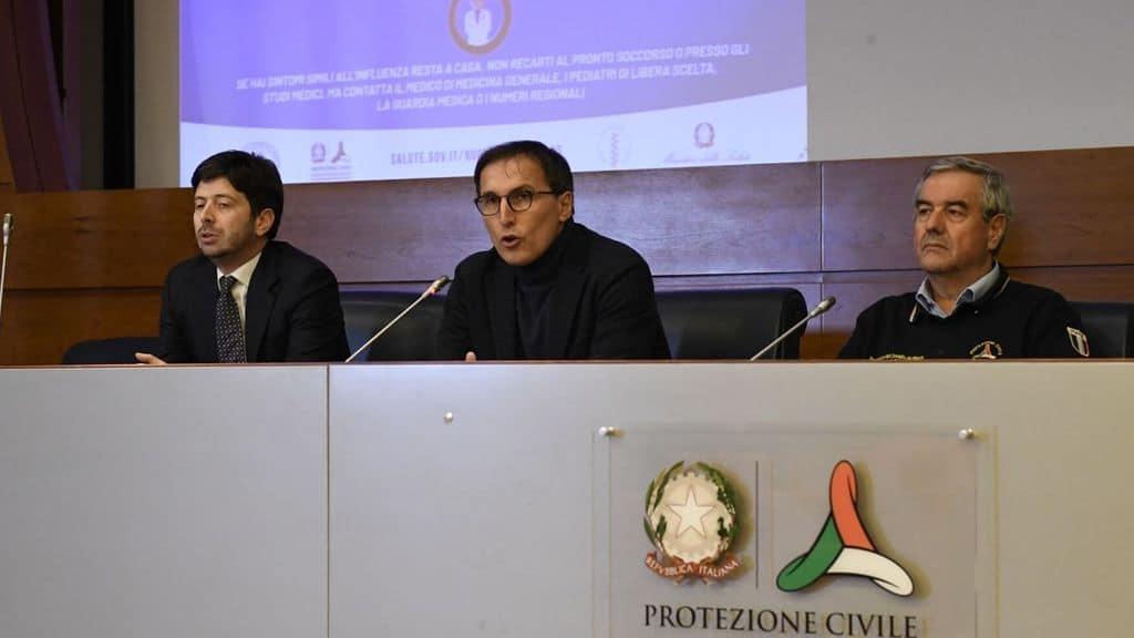 I ministri Boccia e Speranza insieme ad Angelo Borrelli