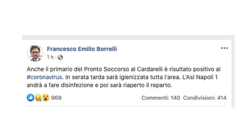 Il post di Francesco Emilio Borrelli