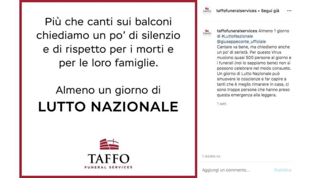 post instagram di Taffo