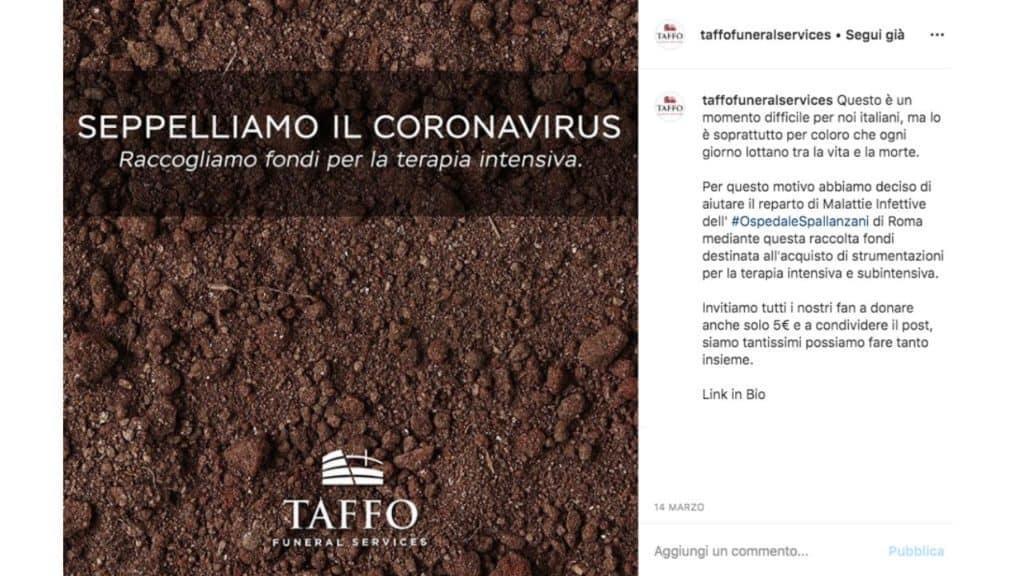 il post Instagram di Taffo