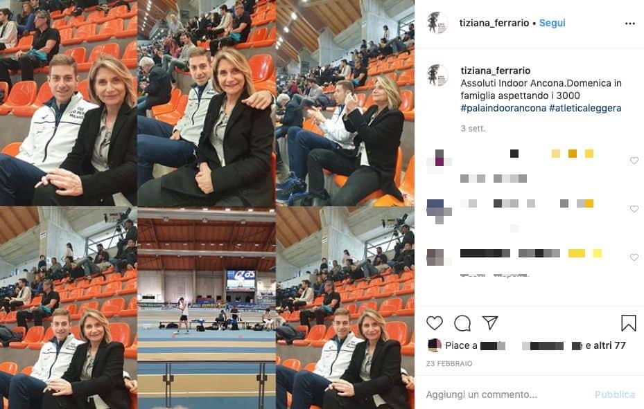 post instagram di tiziana ferrario