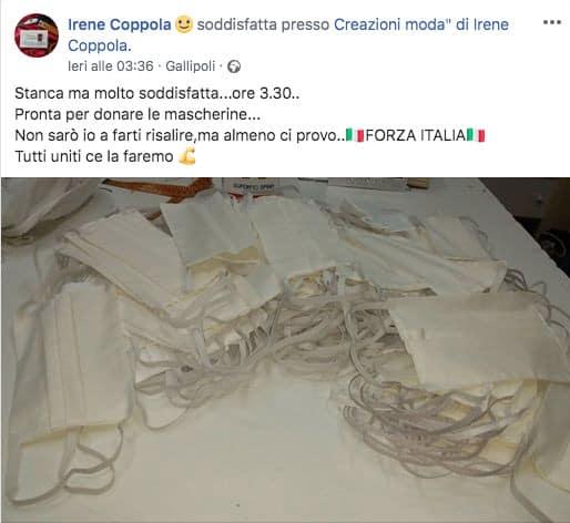 Post della stilista Irene Coppola