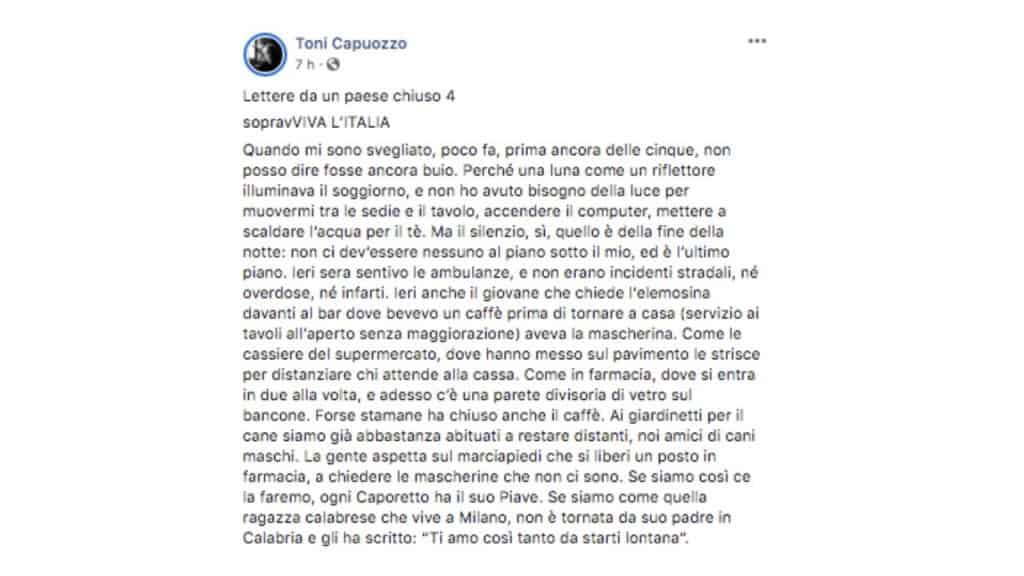 Toni Capuozzo post Facebook
