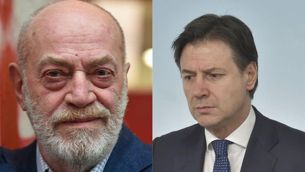 Toni Capuozzo e Giuseppe Conte in primo piano