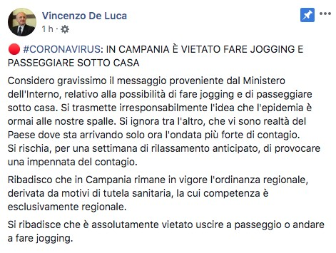 Post Vincenzo de Luca