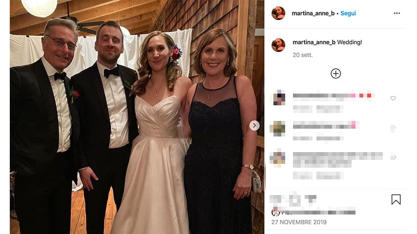 Post di Martina Bonolis: foto del matrimonio su Instagram