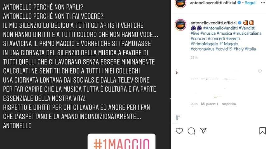 Post social di Antonello Venditti