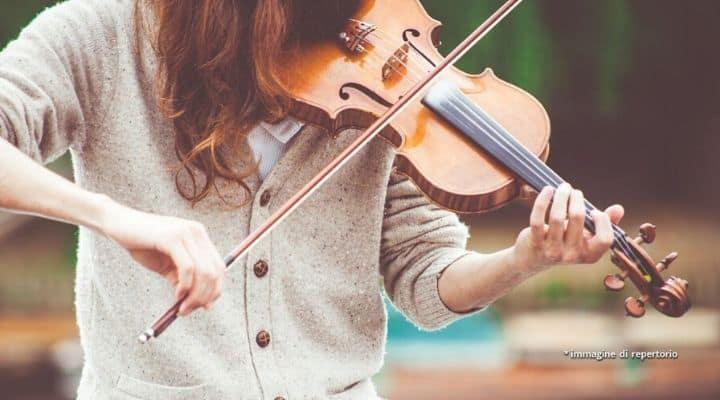 violinista suona violino