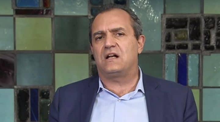 Luigi De Magistris, sindaco di Napoli, in collegamento con Domenica In