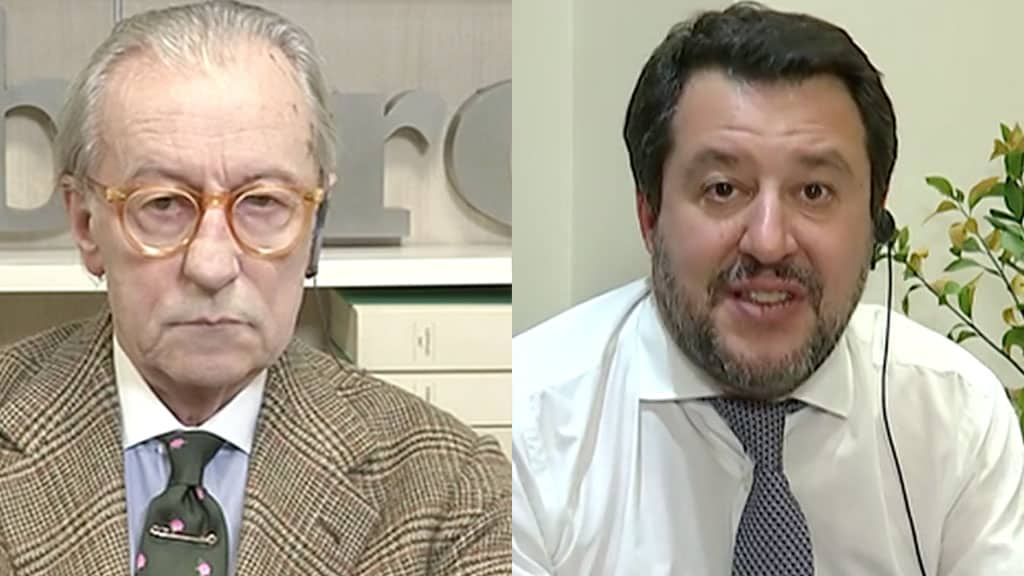 Vittorio Feltri e Matteo Salvini a