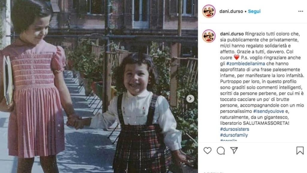 Barbara d'urso e la sorella Daniela piccole