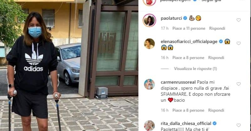 Paola Perego e i commenti al post