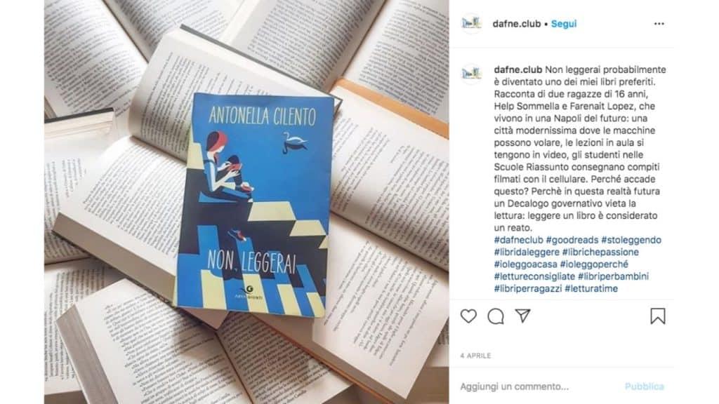 post instagram di dafne - letture da ragazz a ragazz