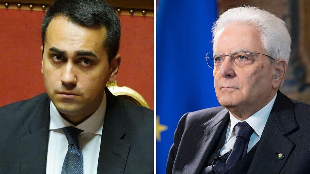 Luigi Di Maio e Sergio Mattarella